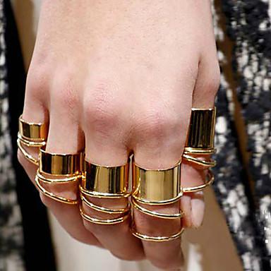 Dames Verguld Statement Ring - Modieus Gouden Ring Voor Feest / Dagelijks / Causaal