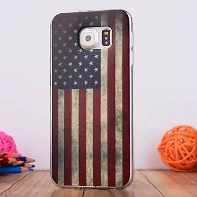 Para Samsung Galaxy Capinhas Case Tampa Com Relevo Capa Traseira Capinha Bandeira PUT para Samsung S6