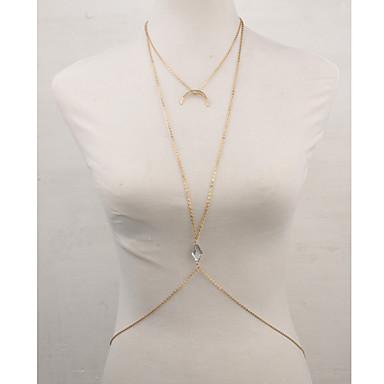رخيصةأون مجوهرات الجسم-نسائي مجوهرات الجسم سلسلة الجسم / سلسلة البطن الماس الاصطناعي ذهبي Geometric Shape سيدات / ترف / تصميم فريد تقليد الماس / سبيكة مجوهرات من أجل فضفاض الصيف / MOON