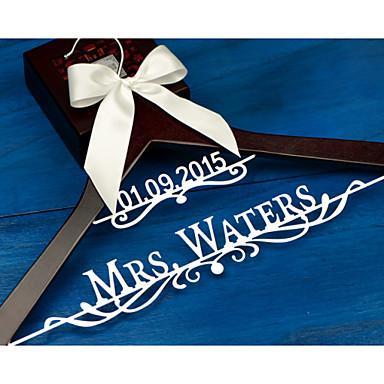 Noiva Dama de Honor Menina das Flores Casal Madeira Aluminum Alloy Prenda Criativa Casamento