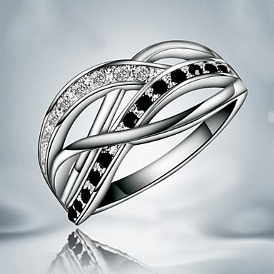 Mulheres Anéis Grossos Fashion Cobre Prata Chapeada Jóias Festa Diário