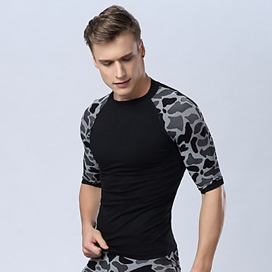 professionele sport snel droog fitness slanke jogging mens ademen overhemd bodybuilding opleiding running compressie panty's