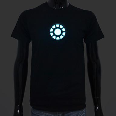 επαναφορτιζόμενη μπαταρία περιλαμβάνεται ανάβει οδήγησε el t-shirt Iron Man 1 ρυθμιζόμενη ένταση ήχου ενεργοποιείται και πολλαπλές