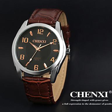 CHENXI® Αντρικά Ρολόι Καρπού Χαλαζίας Γιαπωνέζικο Quartz Δέρμα Μπάντα Καφέ Λευκό Μαύρο