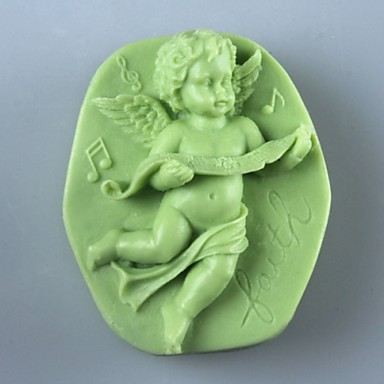 muziek engel soap schimmel fondant cake chocolade siliconen schimmel, decoratie gereedschap bakvormen