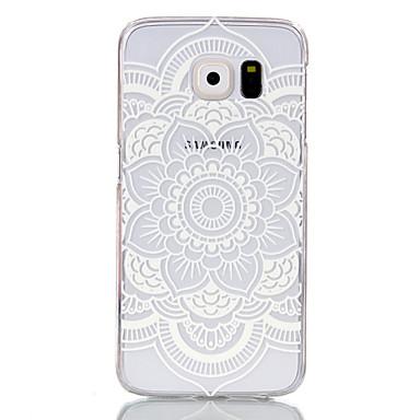 Недорогие Чехлы и кейсы для Galaxy S3 Mini-Кейс для Назначение SSamsung Galaxy S6 edge / S6 / S5 Mini Прозрачный Кейс на заднюю панель Мандала ПК