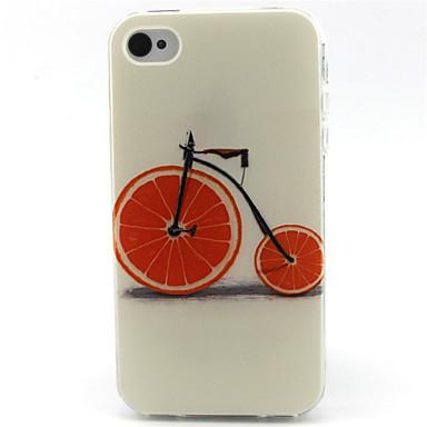 Teste padrão da bicicleta caso de telefone TPU para iPhone 4 / 4S
