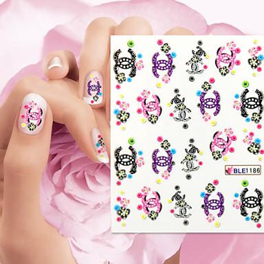 3 Adesivos para Manicure Artística Adorável maquiagem Cosméticos Designs para Manicure