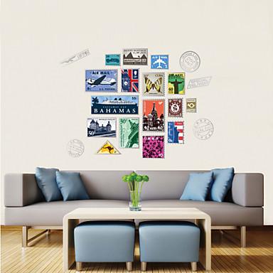 adesivos de parede do estilo decalques de parede de parede personalidade selo adesivos pvc