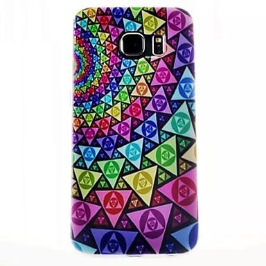 Voor Samsung Galaxy hoesje Patroon hoesje Achterkantje hoesje Geometrisch patroon TPU Samsung S6 edge / S6