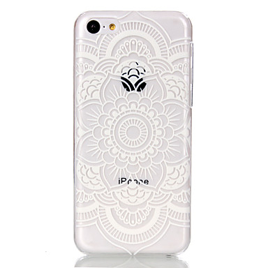 teste padrão de flor oco ultrafinos capa dura caso de volta para o iphone 5c