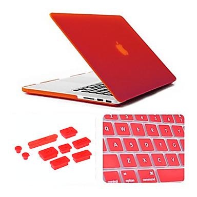 3 in 1 mat geval met toetsenbord deksel en silicone stof plug voor MacBook Pro 15,4 inch (verschillende kleuren)