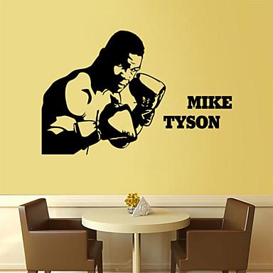 αυτοκόλλητα τοίχου τοίχου στυλ χαλκομανίες Tyson αυτοκόλλητα σπορ στοιχεία PVC τοίχο