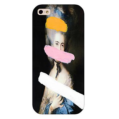 pintura a óleo padrão menina telefone tampa da caixa traseira para iphone5c