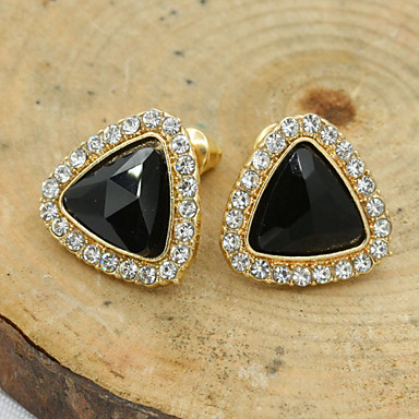Dames Oorknopjes Kristal Modieus Europees Strass Verguld Oostenrijks kristal 18K goud Gesimuleerde diamant Sieraden