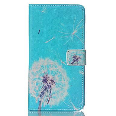 Para Samsung Galaxy Note Carteira / Porta-Cartão / Com Suporte / Flip Capinha Corpo Inteiro Capinha Dente de Leão Couro PU SamsungNote 4