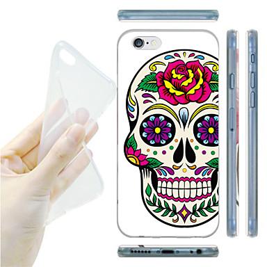 hoesje Voor iPhone 6 iPhone 6 Plus Patroon Achterkantje Doodskoppen Zacht TPU voor iPhone 6s Plus iPhone 6 Plus iPhone 6s iPhone 6