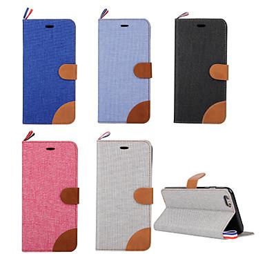 Capinha Para Apple iPhone 6 iPhone 6 Plus Porta-Cartão Com Suporte Flip Capa Proteção Completa Côr Sólida Rígida PU Leather para iPhone 7