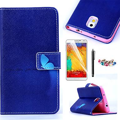 Για Θήκη καρτών / Πορτοφόλι / με βάση στήριξης / Ανοιγόμενη / Με σχέδια tok Πλήρης κάλυψη tok Πεταλούδα Σκληρή Συνθετικό δέρμα Samsung