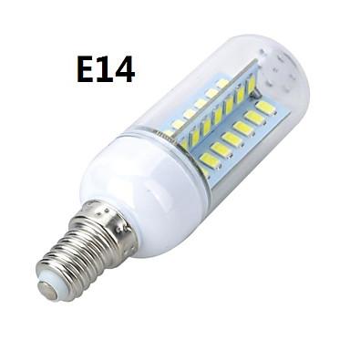 E14 E26/E27 LED Λάμπες Καλαμπόκι T 56 LEDs SMD 5730 Θερμό Λευκό Ψυχρό Λευκό 800-900lm 3000-3500K AC 220-240V