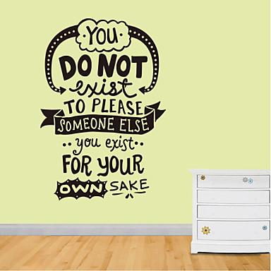 muurstickers muur stickers stijl je niet bestaat engels woorden&citeert pvc muurstickers