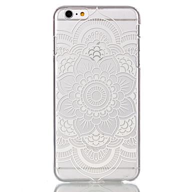teste padrão de flor oco ultrafinos capa dura caso de volta para o iphone 6