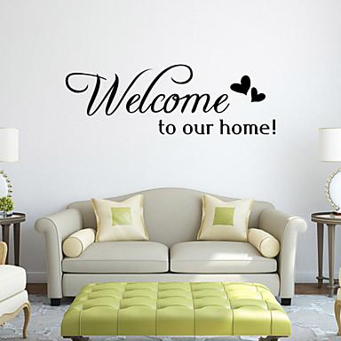 τοίχο αυτοκόλλητα τοίχου στυλ αυτοκόλλητα ευπρόσδεκτοι στο σπίτι αγγλικές λέξεις&αναφέρει αυτοκόλλητα PVC τοίχο