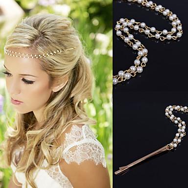 Kristály Anyag Ötvözet tiaras Hair Pin Head Lánc Hair Clip 1 Esküvő Különleges alkalom Party / estély Hétköznapi Szabadtéri Sisak