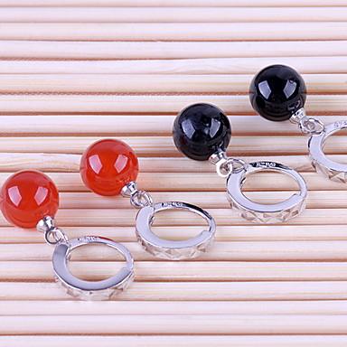 Γυναικεία Ασήμι Στερλίνας Κρεμαστά Σκουλαρίκια - Μαύρο Κόκκινο Σκουλαρίκια Για Γάμου Πάρτι Καθημερινά