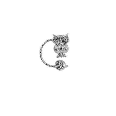 Γυναικεία Χειροπέδες Ear Στρας Εμαγιέ Κράμα Κουκουβάγια Ζώο Κοσμήματα Γάμου Πάρτι Καθημερινά Causal Αθλητικά Κοστούμια Κοσμήματα