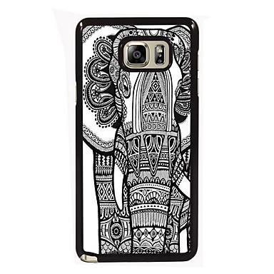 Para Samsung Galaxy Note Case Tampa Estampada Capa Traseira Capinha Elefante PC para Samsung Note 5 Edge Note 5 Note 4 Note 3