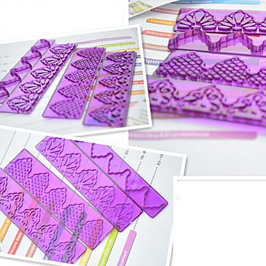 4-delige fondant taart franje schimmelvorming plastic grens taart decoratie schimmel