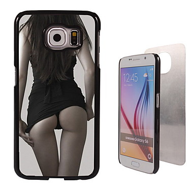 Para Samsung Galaxy Capinhas Case Tampa Estampada Capa Traseira Capinha Mulher Sensual PC para Samsung S6 edge