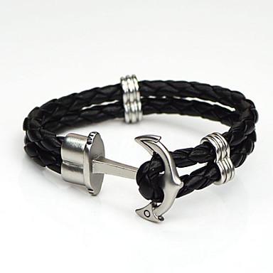 Dames Lederen armbanden Kostuum juwelen Legering Anker Sieraden Voor Bruiloft Feest Dagelijks Causaal Sport Kerstcadeaus