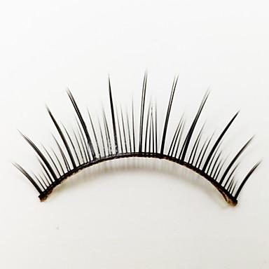1 Cílios Pestana Tiras Completas de Cílios Olhos Fabrico à Máquina Fibra Black Band 0.05mm 13mm