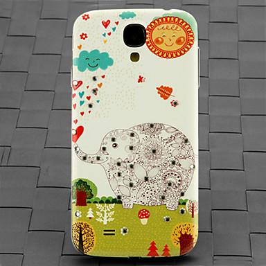 boor en bos olifant patroon pc Cover Case voor Samsung Galaxy S4 / 9500