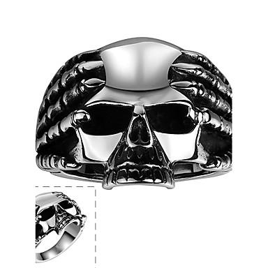 Δαχτυλίδι Ανοξείδωτο Ατσάλι Skull shape Μοντέρνα Ασημί Κοσμήματα Halloween Καθημερινά Causal Αθλητικά 1pc