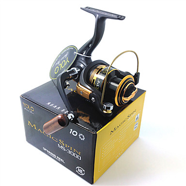 Molinetes de Pesca Molinetes Rotativos 5.1:1 Relação de Engrenagem+10 Rolamentos Orientação da mão Trocável Isco de Arremesso Pesca no