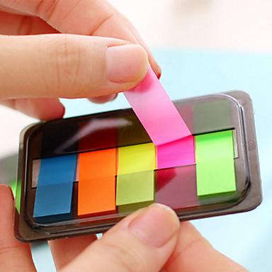 κουτί συσκευασίας φθορίζον χρώμα αυτοκόλλητο σημείωμα (ανάμικτο χρώμα)