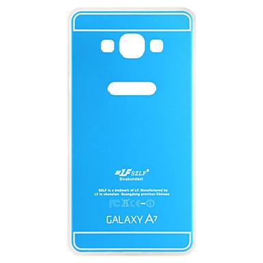 rosa armadura e caso da tampa de metal azul + TPU volta para samsung galaxy a7