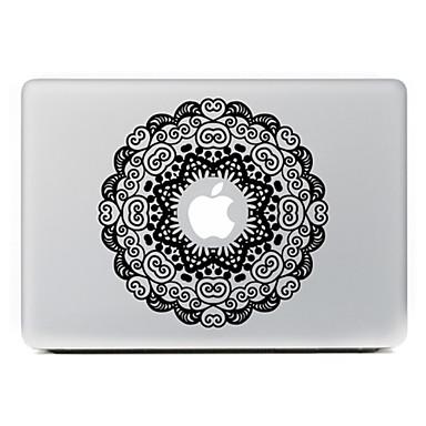 ronde bloem 4 decoratieve skin sticker voor MacBook Air / Pro / Pro met Retina-display