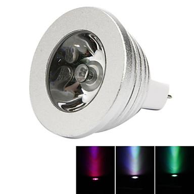 1pc 3W 250lm MR16 LED-spotlampen 1 LED-kralen Krachtige LED Dimbaar Decoratief Op afstand bedienbaar RGB 12V