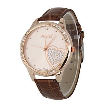 pentru Doamne Ceas Elegant Ceas La Modă Ceas de Mână Quartz Calendar Rezistent la Șoc Mare Dial Piele Autentică Bandă Casual Multicolor