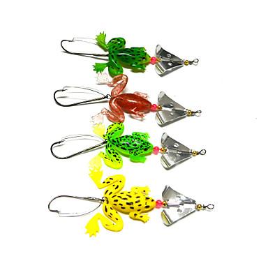 4 pçs Colheres Iscas Colheres Verde Amarelo verde claro Vermelho g/Onça,50 mm/2-1/8