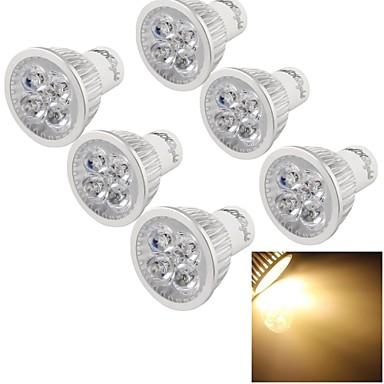 4W GU10 Lâmpadas de Foco de LED MR16 4 leds LED de Alta Potência Decorativa Branco Quente 300-350lm 3000K AC 220-240V