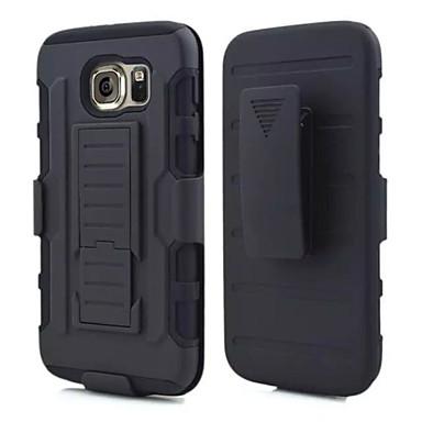 Недорогие Чехлы и кейсы для Galaxy S3-Кейс для Назначение SSamsung Galaxy S6 edge / S6 / S5 Защита от удара / со стендом Кейс на заднюю панель броня ПК