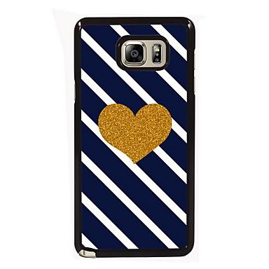 Para Samsung Galaxy Note Case Tampa Estampada Capa Traseira Capinha Coração PC para Samsung Note 5 Edge Note 5 Note 4 Note 3