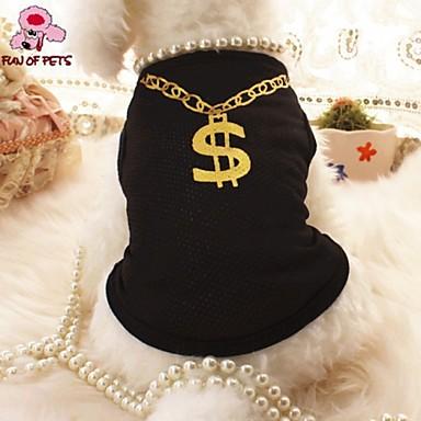 Kat Hond T-shirt Hondenkleding Zwart Roze Textiel Binnenwerk Kostuum Voor huisdieren Cosplay Bruiloft