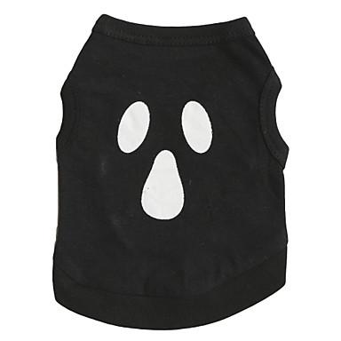 고양이 / 개 코스츔 / 티셔츠 블랙 강아지 의류 여름 꽃 / 식물 / 뱀파이어 패션 / 코스프레 / 할로윈