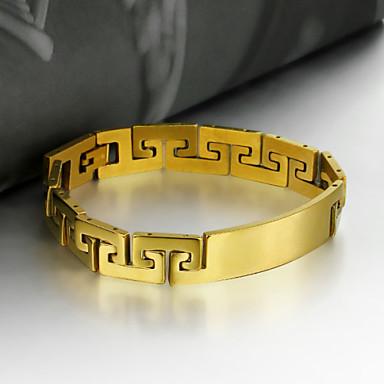Heren Armbanden met ketting en sluiting / Armband - Roestvast staal Kruis Uniek ontwerp, Vintage, Feest Armbanden Goud Voor Feest / Lahja / mielitietty